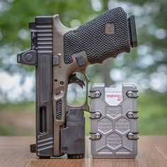 RAE Magazine Speedloaders will save you! Glock Guns, Weapons Guns, Airsoft Guns, Guns And Ammo, Tactical Shotgun, Edc Tactical, Custom Guns, Custom Glock 19, Shooting Guns