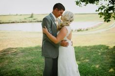 love her hair! Ashley and Justin's Outdoor Rustic Kansas Wedding with a Ton of Handmade Details by Laura Benitz