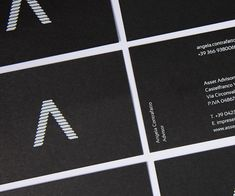 Burano - Business cards Asset Advisors / Design: Super Agency Fine Paper, Atari Logo, Business Cards, Name Cards, Visit Cards