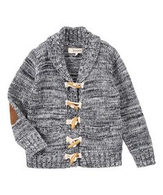 This Navy Variegated Shawl-Collar Cardigan - Toddler & Boys is perfect…