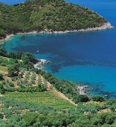The bay of Cala Grande, Porto S. Stefano, Monte Argentario, Costa d'Argento, Maremma, Tuscany, Italy