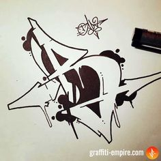 Graffiti Text, Street Art Graffiti, Wie Zeichnet Man Graffiti, Images Graffiti, Graffiti Lettering Alphabet, Chicano Lettering, Graffiti Piece, Graffiti Tattoo, Tattoo Lettering Fonts