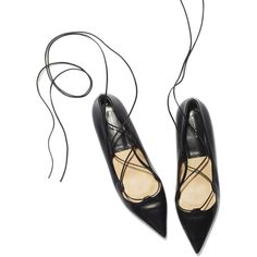 The Michael Kors Collection Kallie Flat is GP's obsession of the season. A sexier take on the black flat, they're still versatile enough to go with everything. Black Flats Shoes, Lace Up Flats, Pump Shoes, Black Heels, Shoe Boots, Pumps, Flat Shoes, Women's Shoes, Sergio Rossi