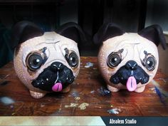 Perro pug Pugs, Penny Bank, Color Me Mine, French Bulldog, Diy And Crafts, Ceramics, Animals, Safe Room, Pug Dogs