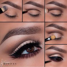 "elementpalette by @motivescosmetics ➡️1.Begin by applying ""Birch"" onto the lower lash line 2.Apply ""Truffle"" slightly above the crease following your natural shape 3.Using ""Native"" blend out ""Truffle"" till there are no harsh lines 4.Take ""Shell"" and pat on the entire lid staying underneath the crease 5.Apply your winged liner using liquid liner in Noir! Line the water line using ""LBD"" gel liner! Taking ""Bordeaux"" blend underneath the lower lash line LASHES: @houseoflashes ""Noir Fairy""…"