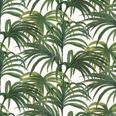 Palmeral Luxury Wallpaper - White / Green