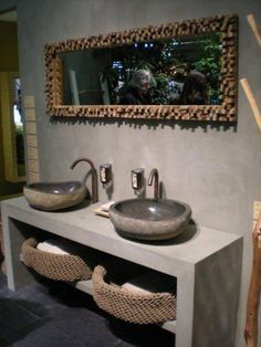 This stunning granite sink hand carved from River Rock makes for a fantastic addition to any modern bathroom This sink measures approx 400 mm x 400