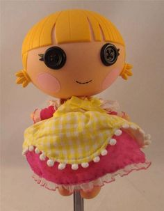 Lalaloopsy Littles Girl Doll  Used Yellow Hair