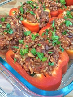 Lebanese Stuffed Peppers with Cinnamon and Toasted Pine Nuts - The Lemon Bowl