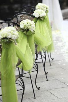 Green Wedding Ideas - Green Chair Ties