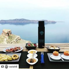 The best way to start your day! ・・・ Breakfast at overlooking the and rock.