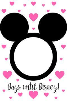 Countdown to Disney. Disney World Trip Countdown. Free Printable Countdown to Disney :) Let the countdown to Disney begin! Disney World Countdown, Trip Countdown, Walt Disney World Vacations, Disney Trips, Disney Disney, Countdown Ideas, Disney 2017, Disney Ideas, Family Vacations