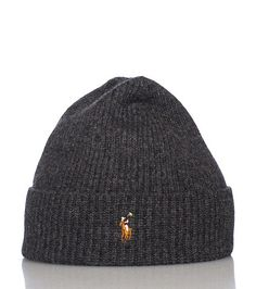 POLO Wool winter beanie Fold up brim Embroidered POLO horse logo detail Thick threading for warmth