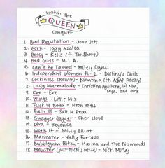 ♚ a playlist fit for a queen