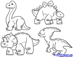 How to Draw Cute Dinosaurs, Cute Dinosaurs, Step by Step, Dinosaurs For Kids, For Kids, FREE Online Drawing Tutorial, Added by MauAcheron, September 9, 2011, 7:27:47 pm