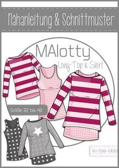 Doppel-Shirt MAlotty - DIN A 0 Schnittmuster und Anleitung als Broschüre