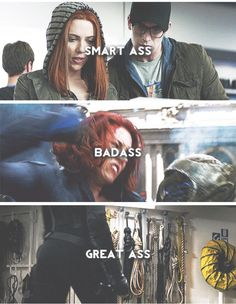 Yes, yes. All of these are true. That's why I just might have a little girl crush on Scarlett Johansson AND Natasha Romanoff.
