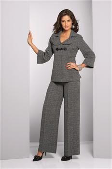 Tweed Babydoll Pantsuit  (Come on get your  suits and dresses  for women)