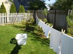 How To Make A Clothesline Fascinating Homemade Clothesline  Dryer Household And Backyard Review