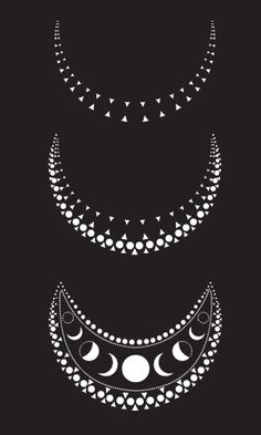 phases of the moon artwork from Belabubum's Moon Goddess collection