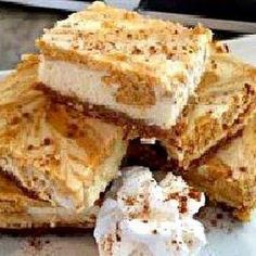 Slow Cooker Pumpkin Swirl Cheesecake Bars Recipe | Yummly