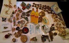 Huge Lot 65 + Pins Tac Hat Tie Lapel Enamel Jewelry Vintage Souvenir Variety #nobrand