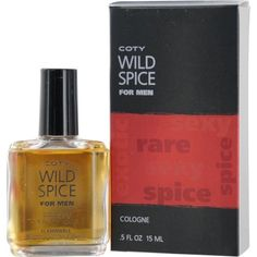 Coty Wild Spice Cologne for Men, 0.5 Ounce by Coty. $2.59. Fragrance Notes: A spicy, aromatic scent for men.. Design House: Coty. Recommended Use: romantic. A spicy, aromatic scent for men. Year Introduced  Recommended Use romantic