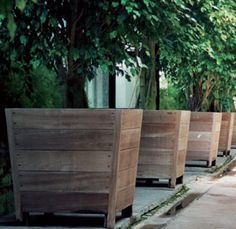 Wood Planter Tree Box Google Search Large Wooden Planters Garden