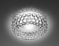 """:: LIGHTING :: Foscarini - Caboche ceiling mount fixture, 19.75"""" dia 7.5""""H, transparent, like jewelry for your ceiling, designed by one of my favourite sources of inspiration, Design: Patricia Urquiola, Eliana Gerotto #lighting"""