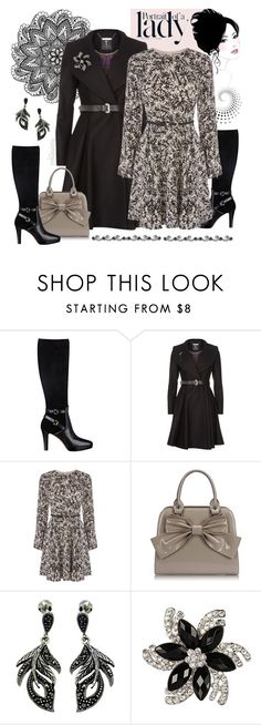 """Portrait of a Lady"" by pwhiteaurora ❤ liked on Polyvore featuring Nine West, Ted Baker, Oasis, Goldmajor and Inez & Vinoodh"