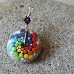 Rainbow Mandala Stone