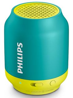 Philips BT50 - An utra-portable speaker made to stream music wirelessly via Bluetooth. It is also built with a sturdy and mini design that makes it really portable. Philips BT50 also has a decent battery life of up to 6 hours. | For more pins on Portable Bluetooth and Wireless Speakers, follow Best Buy Portable Speakers