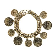 Coin Charm bracelet.