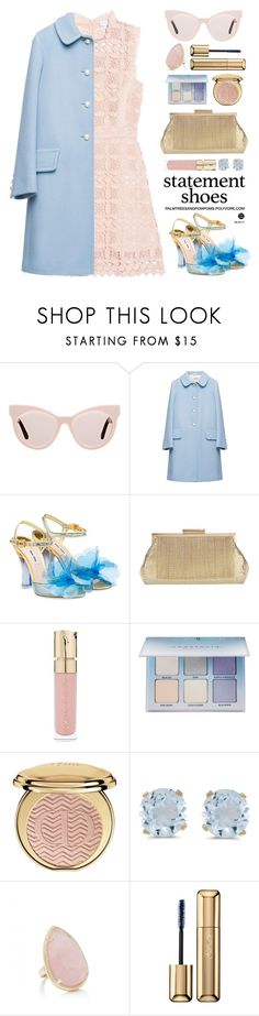 """""""Double Take: Statement Shoes"""" by palmtreesandpompoms ❤ liked on Polyvore featuring Karen Walker, Miu Miu, Whiting & Davis, Smith & Cult, Anastasia Beverly Hills, Christian Dior, BillyTheTree, Forever New and Guerlain"""