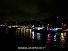 Londra Tamigi in the night