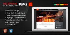Inception Theme Responsive HTML