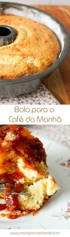 Bolo para o Café da Manhã, para começar o dia bem. #receita #comida #bolo #cafédamanhã #bolosimples