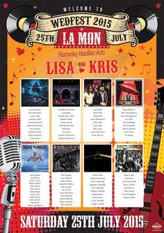 rock n roll wedding table plan http://www.wedfest.co/kris-lisas-rock-n-roll-wedding-at-la-mon-belfast/