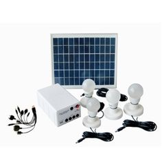 UPE-SLS08 Solar Lighting System Product Description: • Complete kit includes everything you need to hook up solar and lighting. • Great for power usage in remote area and outdoor activities. FEATURES Kit includes: solar panel, LED lamps, cotroller and battery box, charge cable Solar panel:10W        Battery: lead-acid, 12V/7Ah Lamp:1.5W * 4 pcs    Working time:10hrs