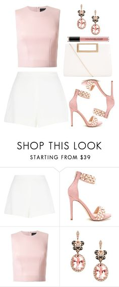"""High Waisted Shorts"" by wolfiexo ❤ liked on Polyvore featuring Giambattista Valli, Simone Rocha, Effy Jewelry, New Look and Youngblood"