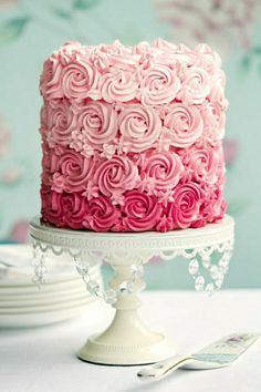Birthday cake girl deco birthday kids birthday cake 1 year 2 … - Quick and Easy Recipes Cupcakes, Cupcake Cakes, Easy Birthday Cake Recipes, Tall Cakes, Girly Cakes, Birthday Cake Girls, Birthday Kids, Rose Cake, Beautiful Cakes