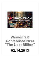 Women 2.0 PITCH San Francisco: The Next Billion  http://my.yapp.us/W2CONF13
