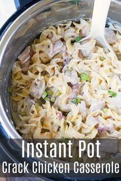 Dinner Recipes for 2 Instant Pot crack chicken casserole is one of the most amazing pressure cooker d. Instant Pot crack chicken casserole is one of the most amazing pressure cooker dinner recipes I have made thus far! Get ready for creamy goodness. Pressure Cooker Chicken, Instant Pot Pressure Cooker, Pressure Cooker Recipes, Pressure Cooking, Chicken Cooker, Chicken And Egg Noodles, Chicken Noodle Casserole, Chicken Pasta, Ip Chicken