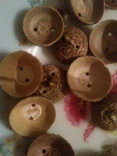 Acorn hat buttom DIY