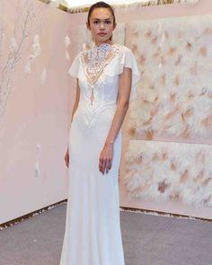 Gala by Galia Lahav Fall 2017 Wedding Dress Collection | Martha Stewart Weddings – Short-sleeve mermaid wedding dress