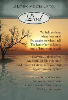 remembering dad in heaven Miss My Daddy, Rip Daddy, Miss You Dad, Dad Poems, Grief Poems, Father Poems, Funeral Poems For Dad, Memorial Cards For Funeral, Dreams