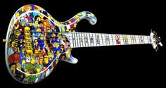 Jens Ritter Simpsons bass - check out the fretboard inlays. Guitar Art, Cool Guitar, Erotica, Best Funny Pictures, Musical Instruments, Musicals, Awesome, Sick, Porn
