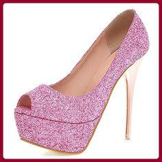 Fashion Heel , Damen Pumps , rosa - rose - Größe: 42 - Damen pumps