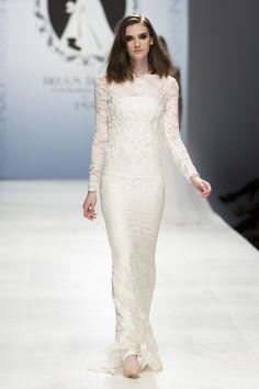 Long Sleeve Wedding Dress (Style #PB251) - Dream Dresses by P.M.N - 2