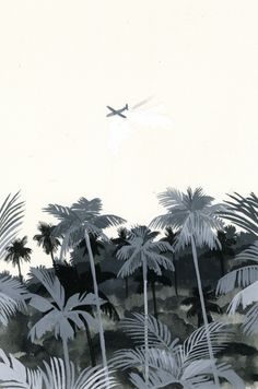 White and black  The illustration for a novel by Hiroyuki Izutsu, via Behance